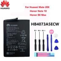 100% Orginal Hua Wei HB4073A5ECW 5000mAh Batterie Für Huawei Mate 20 X 20X / Honor Hinweis 10 / Honor 8X Max Ersatz Batterien