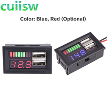 Красный светодиодный цифровой дисплей Вольтметр Мини измеритель напряжения батарея тестер панель для DC 12V автомобилей мотоциклов транспор...