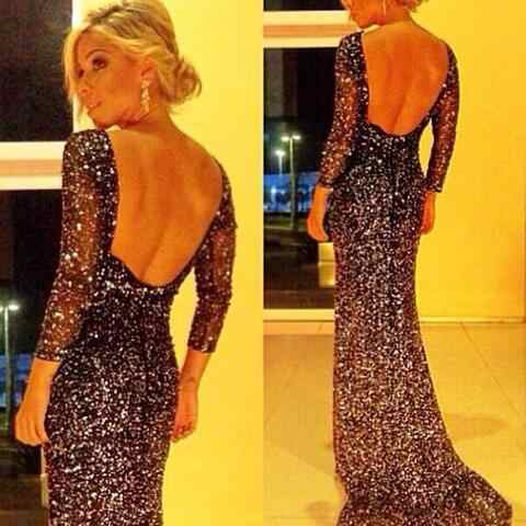 Vestido de festa sexy lange jurk zwart glitter jurk backless vrouwen jurk vestidos mujer gewaad sexy elbise prom club party DC343