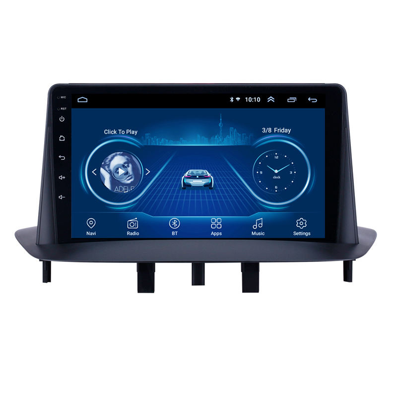 2 Din Car Radio multimedia video player navigation <font><b>GPS</b></font> stereo For renault <font><b>megane</b></font> <font><b>3</b></font> renault fluence android auto car stereos image