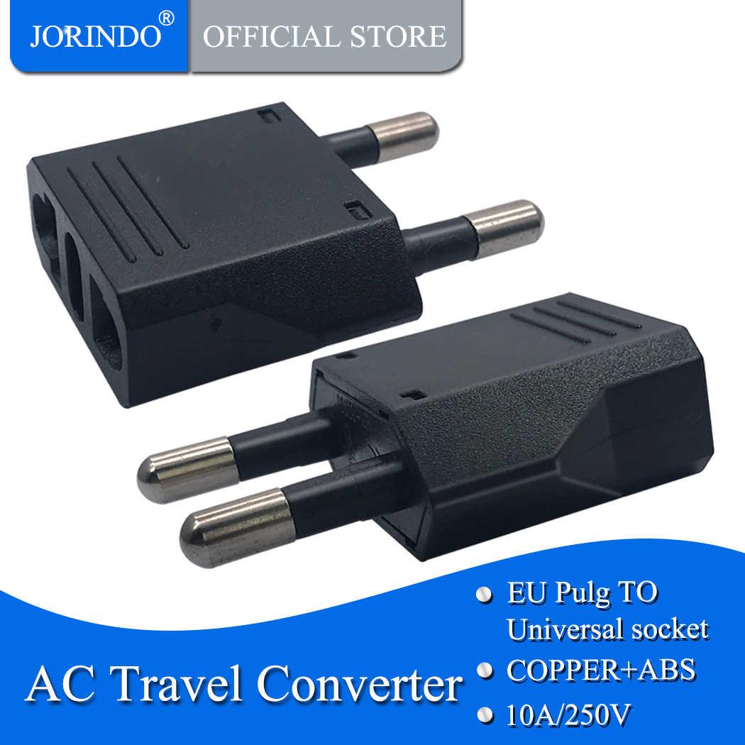 JORINDO ue vers états-unis, adaptateur américain japon états-unis vers ue allemagne Euro adaptateur de voyage prise électrique prise de courant ca, 4.8mm pied.