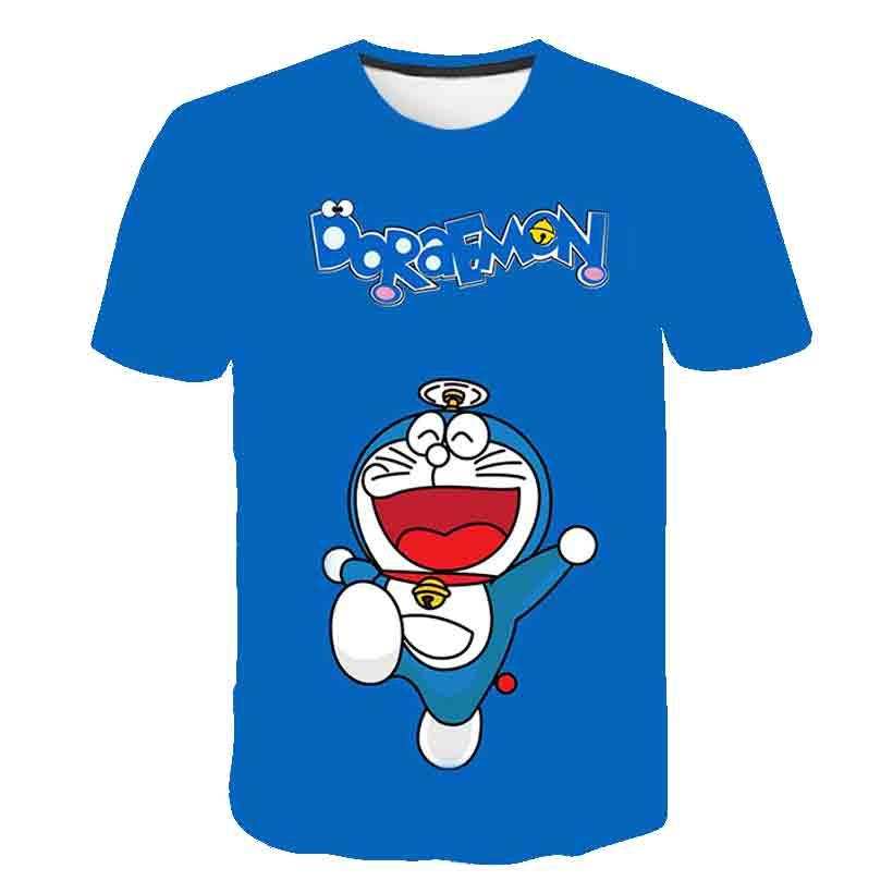 Cute Japan Anime Blue Dorae mon Boys T Shirt Kids Tshirt Comic story T-Shirts Girls Child T-Shirts Children Clothing Tee Shirt