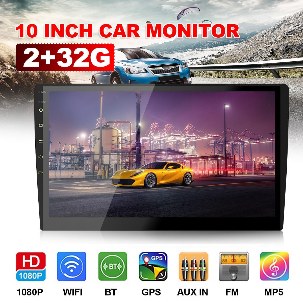 10 дюймов Full HD 2 + 32G Автомобильный мультимедийный плеер 2 din Android автомобильный стерео радио bluetooth WIFI Аудио стерео автомобильный MP5 плеер с GPS