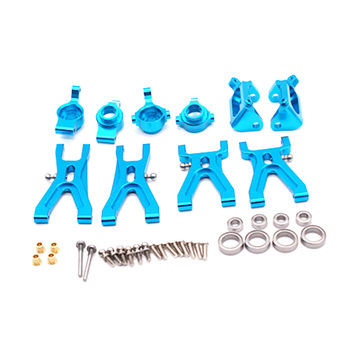 Upgrade Suspension Arm & Front/Rear Hub C Seat Parts Kit for WLtoys A959 A979 A959B A979B K929 RC Car Replacements,Blue