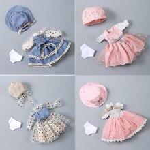 Blyths boneca roupas moda rendas princesa vestido bonecas conjunto sd yosd bjd boneca acessórios de brinquedo diy roupas da menina do bebê moda presente