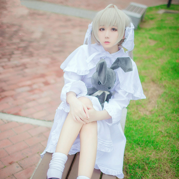 Anime Yosuga no Sora Cosplay Costume Kasugano Sora Cosplay Rabbit Ear Lolita Dress Carnival Halloween Party Costumes for Women 1
