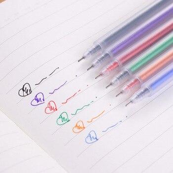 Suministros de papelería, bolígrafo de oficina simple, bolígrafo de gel de acuarela esmerilado transparente, bolígrafo de gel de tiza de 0,5mm, moomin