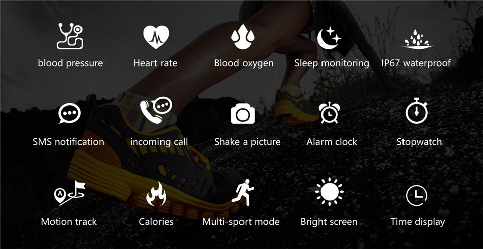 F10 Fitness Tracker ECG pulsera smartwatch 2