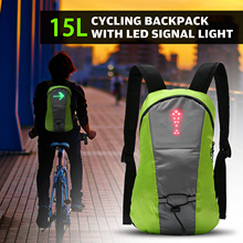 Bicycle Backpack Attached-Light LED USB Direction-Indicator Turn-Signal Rechargeable