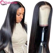 Gabrielle laço frontal perucas de cabelo humano brasileiro osso em linha reta 4x4 5x5 6x6 peruca de fechamento para as mulheres perucas de renda transparente cabelo remy
