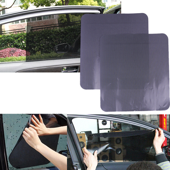 2 Pcs 42 * 38cm Car Styling Car Sunshade Electrostatic Stickers Auto Supplies Sun Block Sun-shading Stickers image