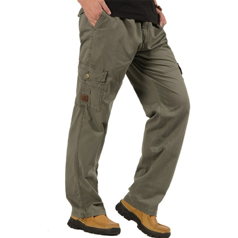 7XL Plus Size Cargo Pants Men Casual Loose Army Military Long Trousers Men Spring Autumn Baggy Multi-Pocket Pants Male Outwear