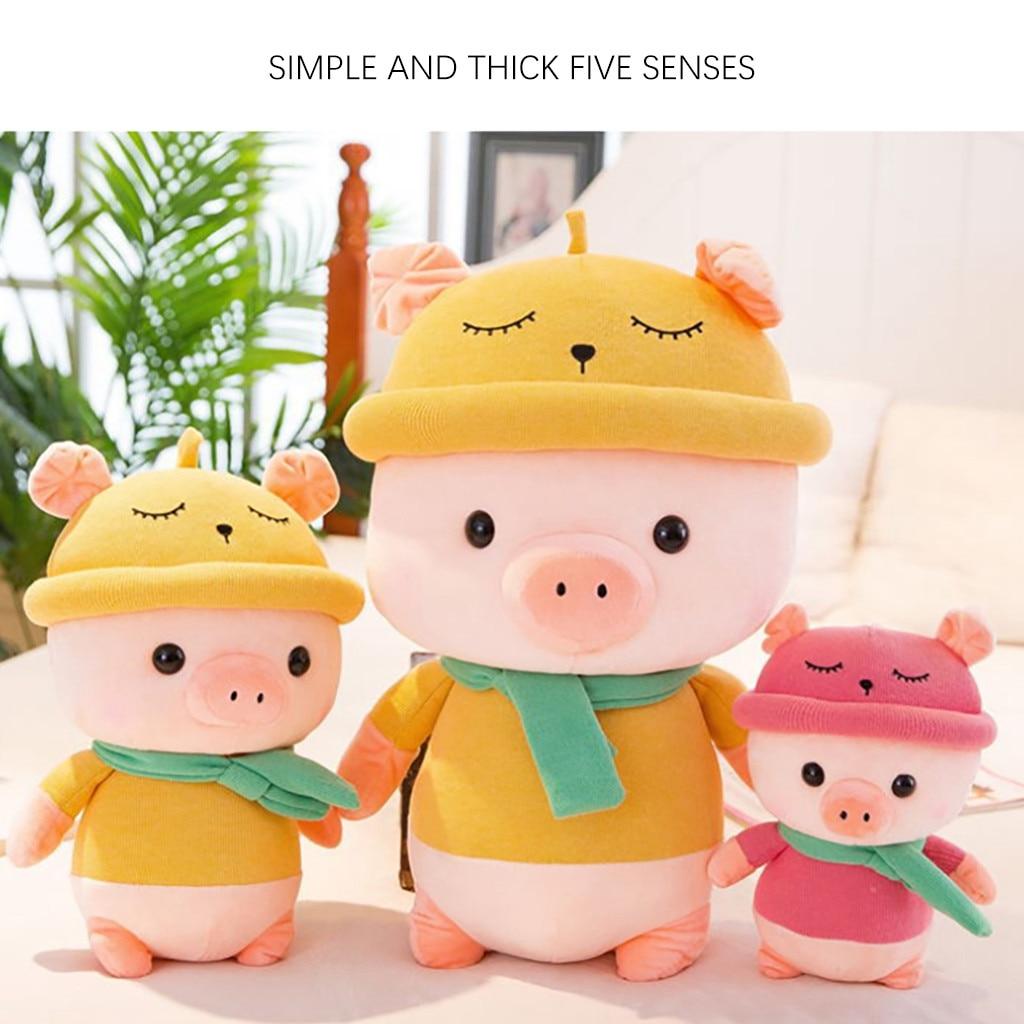 Kids Pig Stuffed Animal Plush Pig Toy Kids Gifts Baby Toy 10.5 inches Stuffed Plush Animals Accompany Doll Gift Sleeping Toy