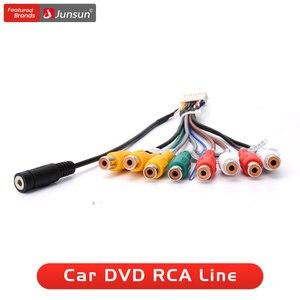 Junsun автомобильное стерео радио RCA выходной провод Aux-in адаптер кабель