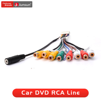 Junsun radio samochodowe stereo wyjście rca przewód aux-in kabel adapter tanie i dobre opinie about 160mm Standard 12 v Kable Adaptery i gniazda 100g Car Stereo Radio Adapter Cable