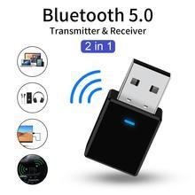 VIKEFON 블루투스 5.0 수신기 송신기 미니 스테레오 블루투스 AUX RCA USB 3.5mm 잭 오디오 TV 용 PC 차량용 키트 무선 어댑터