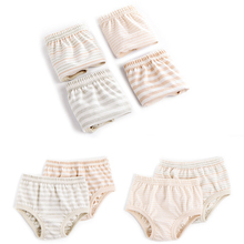 4 Pcs/lot Child Underwear for Girls Boys Baby Panties Fashion Colored Cotton Briefs Kids Stripe Underpants Comfortable Soft