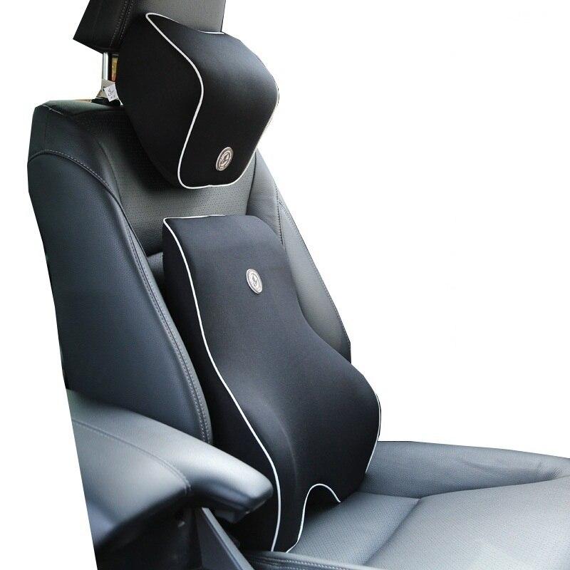 Neck-Pillow Seat-Support Lumbar Cushion Memory-Foam Car-Seat Orthopedic-Design Relieve-Pain