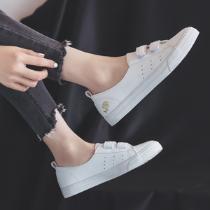 Image 2 - Womens Leather Shoes Fashion Flats Spring Summer Women Causal Sneakers Floral Breathable White Shoes High Quality Shoes Women