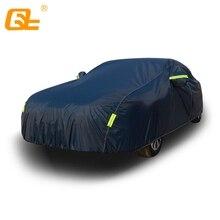 Universal Volle Auto Abdeckung Dark Blue Outdoor Schnee Eis Staub Sonne UV Schatten Abdeckung Auto Exterior Zubehör fit suv limousine fließheck