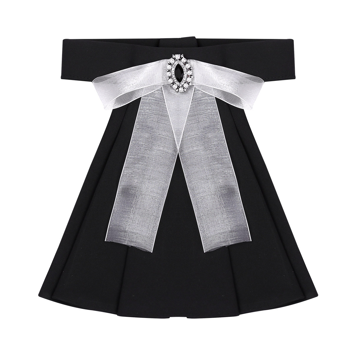 Gothic Victorian Lace Detachable Collar Black Womens Mini Cape Jabot Neckwear