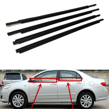 For Toyota Prius 2004-2009 Car Window Weatherstrips Seal Protection Exterior Molding Styling 1