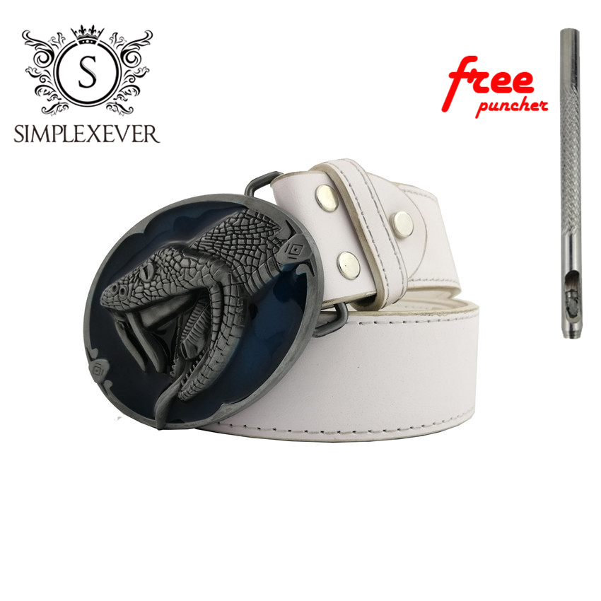 Belt Buckles For Men Snake Oval Leather Belt Buckles As Birthday Gift Dropshipping Cowboy Belt Buckles