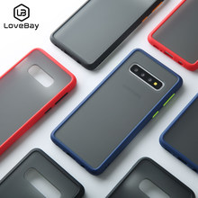 Lovebay Nieuwe Shockproof Phone Case Voor Samsung Galaxy S10 5G Plus Lite Capa Luxe Matte TPU Cover Voor Note10 a70 A10E M20 Fundas(China)