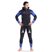 Sheshot diving 5mm neoprene diving suit warm winter swimming long sleeve one piece two piece swimsuit thickened jellyfish suit
