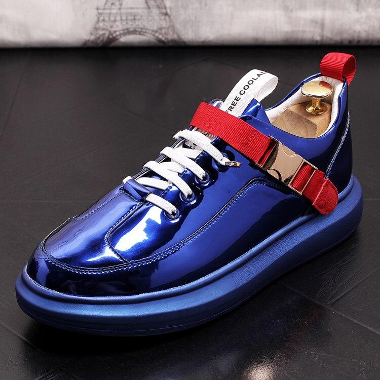 Nouveau 2019 hommes chaussures décontractées en cuir de luxe marque chaussures plates pour hommes livraison directe hommes mocassins mode métal décoration appartements hommes