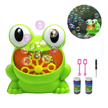 New Cute Frog Automatic Bubble Machine Gun Soap Bubble Blower Outdoor Kids Child juguetes brinquedos Toy for Kids Free Ship