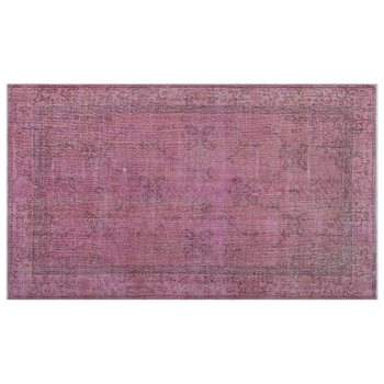 Handmade Pink Vintage Overdyed Turkish Area Rug 156x266 Cm-5'1''X8'9'' фото