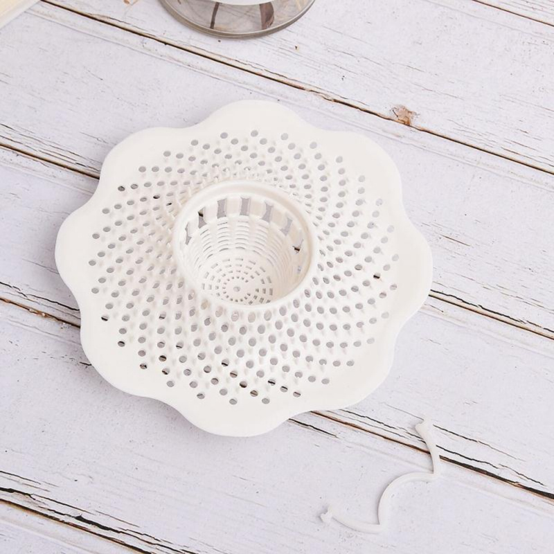 Kitchen Sink Strainer With Small Handle Ultra-thin Drain Detachable PVC Plug Core For Kitchen Home Improvement