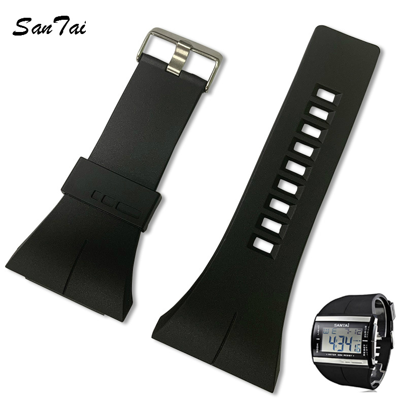 SanTai Watchband 30mm Silicone Rubber Watch Strap Bands Waterproof Watchband Belt Accessories