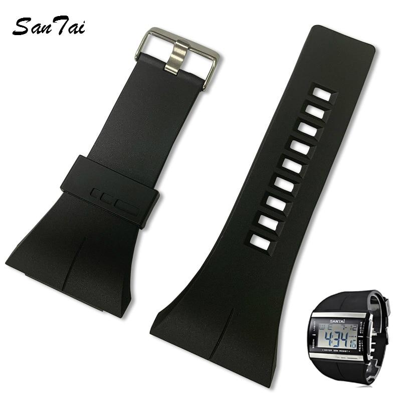 Ремешок для часов SanTai 30 мм из силиконовой резины, водонепроницаемые ремешки для часов, аксессуары для ремня