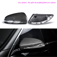 Dry Carbon Mirror Cover For Mercedes Benz W205 W222 W213 W238 X205 Benz C S GLC E Class carbon caps 1:1 Replacement Style AMG