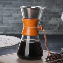 2019 Glass Coffee Pots Heat Resistant Classic Coffee Maker Pour Over Coffeemaker Coffee Drip Pot Stainless Steel Coffee Filter(China)