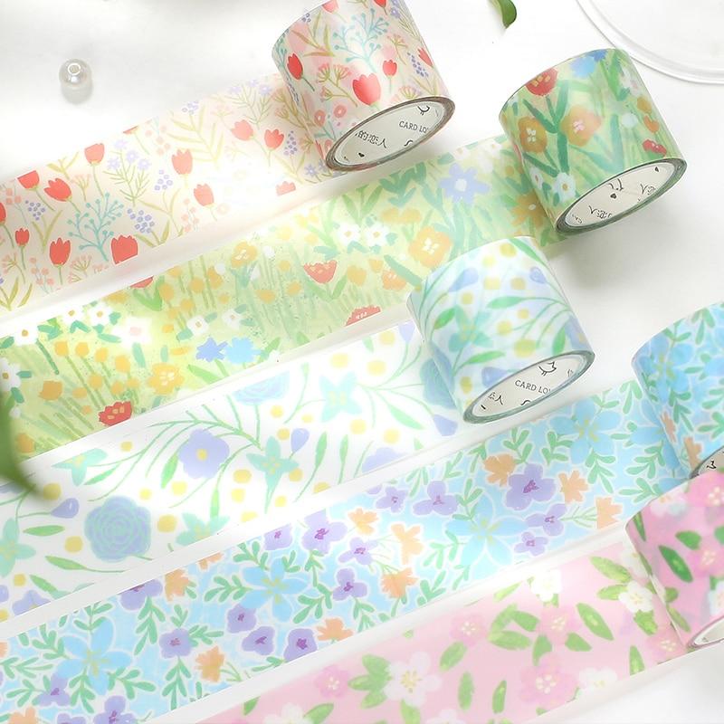 6 PCS/LOT spring Garden series fresh paper decorative tape PET tape
