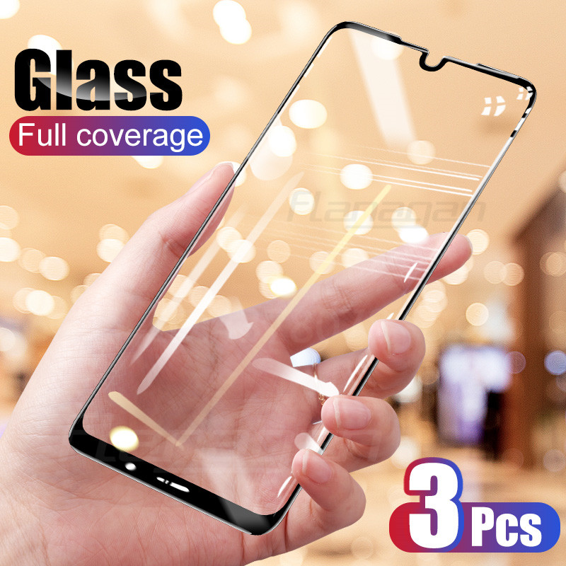 3Pcs 9H Tempered Glass For Huawei P20 P30 P10 Mate 20 Lite Pro Screen Protector For Huawei Honor 10 20 Lite P Smart Glass Film-in Phone Screen Protectors from Cellphones & Telecommunications