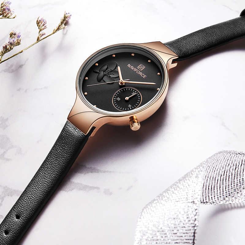 Женские Аналоговые кварцевые часы NAVIFORCE, роскошные брендовые модные женские Стразы, часы под платье, наручные часы, простые часы, Relogio Feminino
