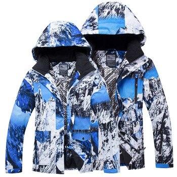 New Women Men Ski Jacket Ski Coat Winter Warm Windproof Waterproof Male Female Outdoor Sports Snowboarding Couple Ski Jackets