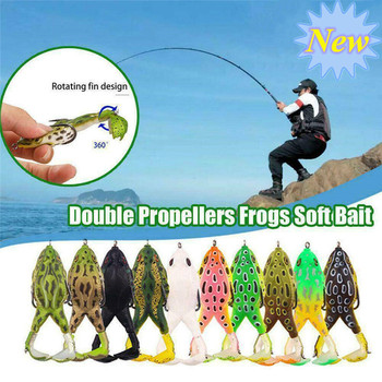 Soft Frog Fishing Lures Artificial Soft Silicone Bait Treble Hooks Top Water Ray Frog 9cm Frog Fishing Tackle Artificial Bait 1pcs wholesale bionic sea fishing frog soft bait fishing bait 12g 6cm artificial 3d eyes crank sink rotate fishing soft bait