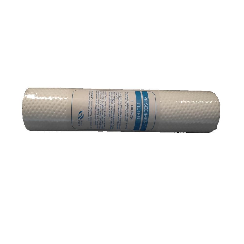 4 шт. очиститель воды 10 дюймов 1 микрон осадочный фильтр картридж PP хлопок система воды