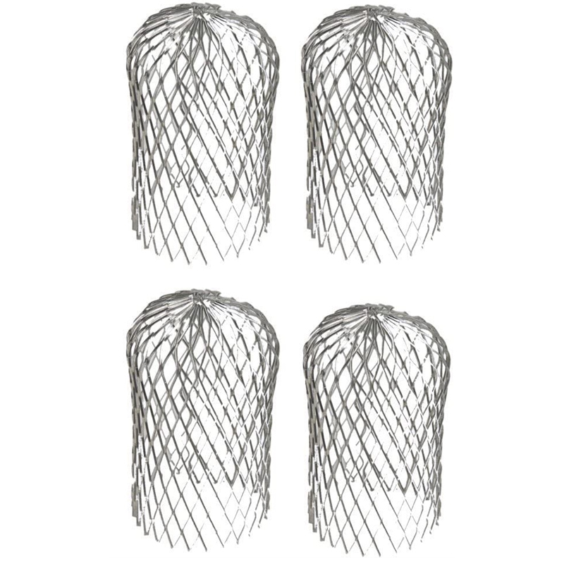 4pcs Leaf Filter Anti-leaf Filter Garden Eaves Drain Pipe Filter Cap Freely Retractable Filter Easy To Repair