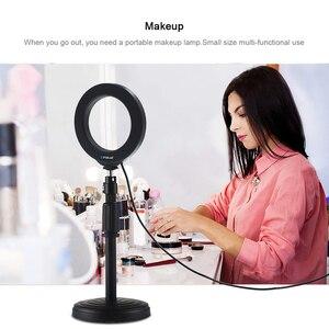 Image 2 - 4.7 inç fotoğraf aksesuarları aydınlatma selfie LED halka stüdyo video kamera işığı fotoğraf lamba Led dolgu ışığı youtube halka