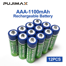PUJIMAX AAA Battery 1100mAh1.2V 12PCS rechargeable battery pre-charged recharge ni mh rechargeable battery For camera microphone