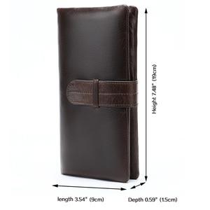 Image 2 - WESTAL portfel męska oryginalna skórzana portmonetka dla mężczyzn sprzęgła portfele męskie długa skórzana zipper portfel mężczyźni biznes portfel 6018
