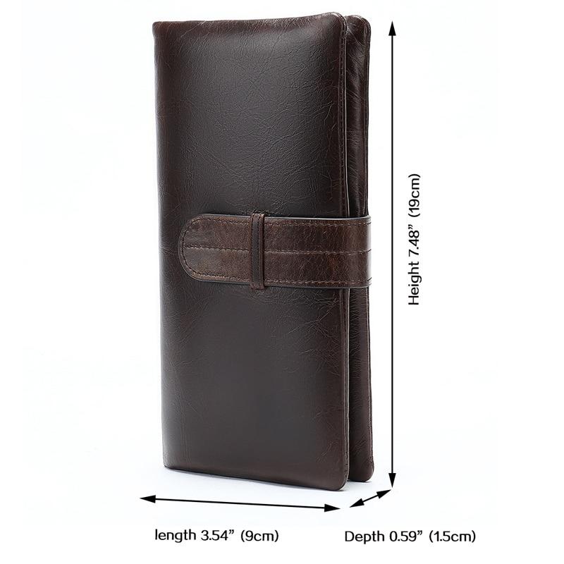 Image 2 - WESTAL wallet mens genuine leather purse for men clutch male wallets long Leather zipper wallet men business money bag 6018Wallets   -