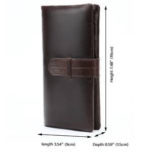 Image 2 - WESTAL wallet mens genuine leather purse for men clutch male wallets long Leather zipper wallet men business money bag 6018