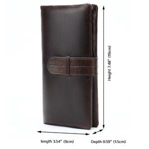 Image 2 - WESTAL ארנק גברים של עור אמיתי ארנק גברים מצמד זכר ארנקי עור ארוך רוכסן ארנק גברים עסקים כסף תיק 6018